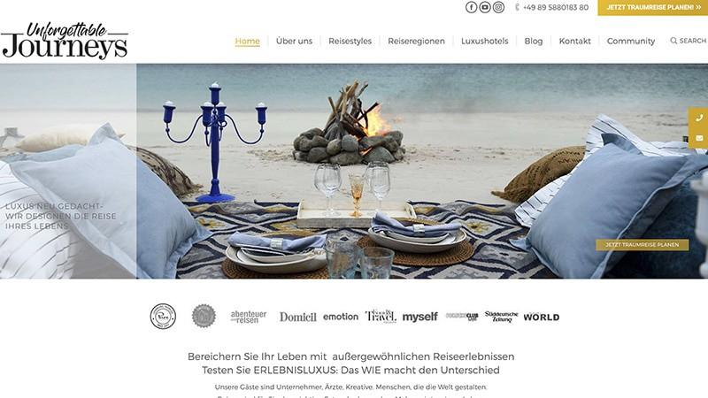 unforgettablejourneys Wunderlandmedia webdesign augsburg