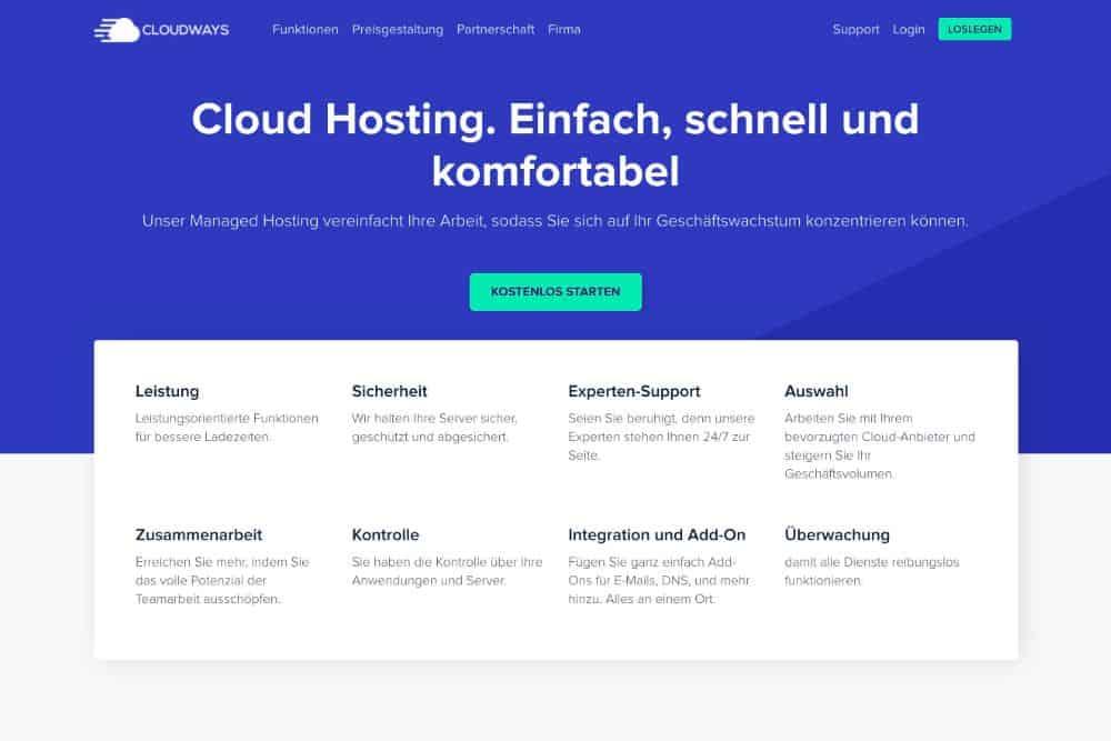 Cloudhosting Managed Hosting Plattform